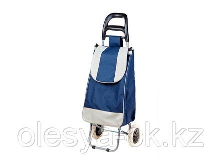 Сумка-тележка хозяйственная на 30 кг, синяя, полоска, PERFECTO LINEA, фото 2