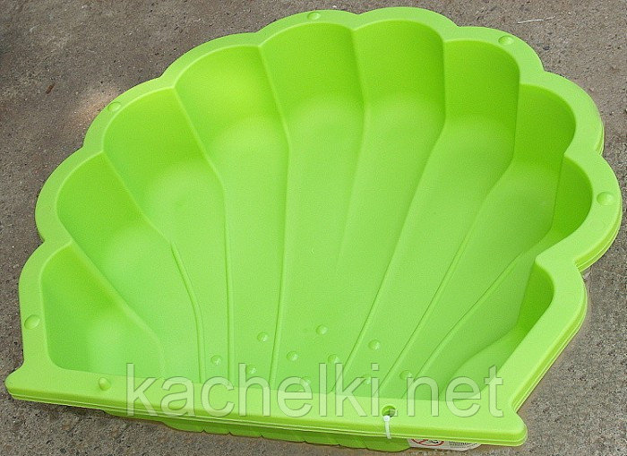 PARADISO Песочница РАКУШКА (87 x 78 x 20h) Зеленый двойная