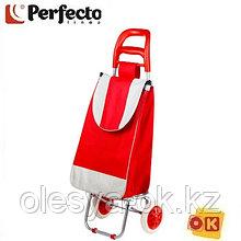 Сумка-тележка хозяйственная на 30 кг, красная, полоска, PERFECTO LINEA