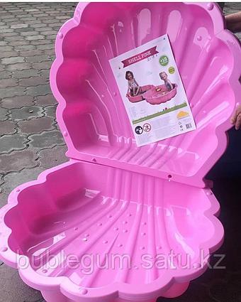 PARADISO Песочница с крышкой РАКУШКА (87 x 78 x 20h) розовый