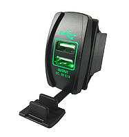 Автомобильное USB зарядное устройство в виде авто кнопки