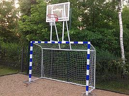 Ворота с баскетбольным щитом из оргстекла