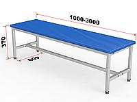 Скамейка для раздевалки без спинки, мягкая, фото 1