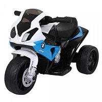 Электромотоцикл BMW Bugati, бело-синий