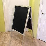Штендер аллюминиевый с черным полотном (меловой), фото 2