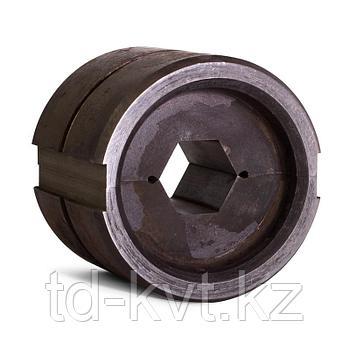 Матрица с круглым профилем обжима для пресса гидравлического ПГ-60 тонн при опрессовке алюминиевых зажимов на