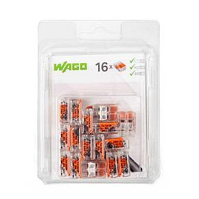 Мини-упаковка рычажковых клемм «Wago» в блистерах. Серия 221
