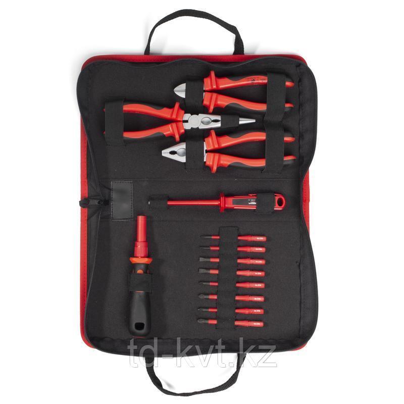 Набор диэлектрического инструмента электрика для работ под напряжением до 1000 В НИО-3312