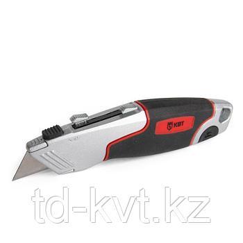 Нож строительный монтажный с двухсторонним трапециевидным лезвием НСМ-14