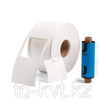 Комплект «бирка-риббон» для маркировки кабеля: квадратные бирки У-134, термотрансферная лента. У-134Р