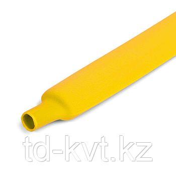 Цветная термоусадочная трубка с коэффициентом усадки 2:1 ТУТнг-12/6, желт
