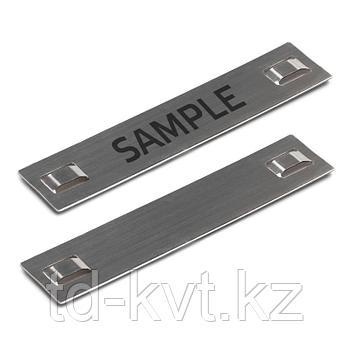 Бирки маркировочные из нержавеющей стали AISI 304 МБC (304) 89х19 (с лазерной маркировкой)