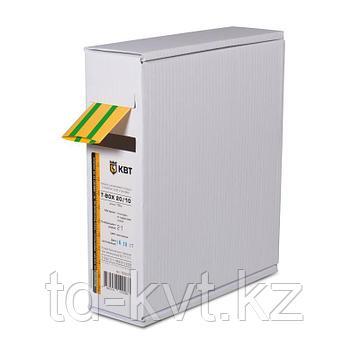 Термоусадочная желто-зеленая трубка в компактной упаковке по 10 метров (Т-бокс) Т-BOX-12/6 (ж/з)