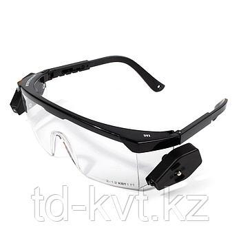 Очки монтажника защитные со светодиодными фонариками ОМ-04