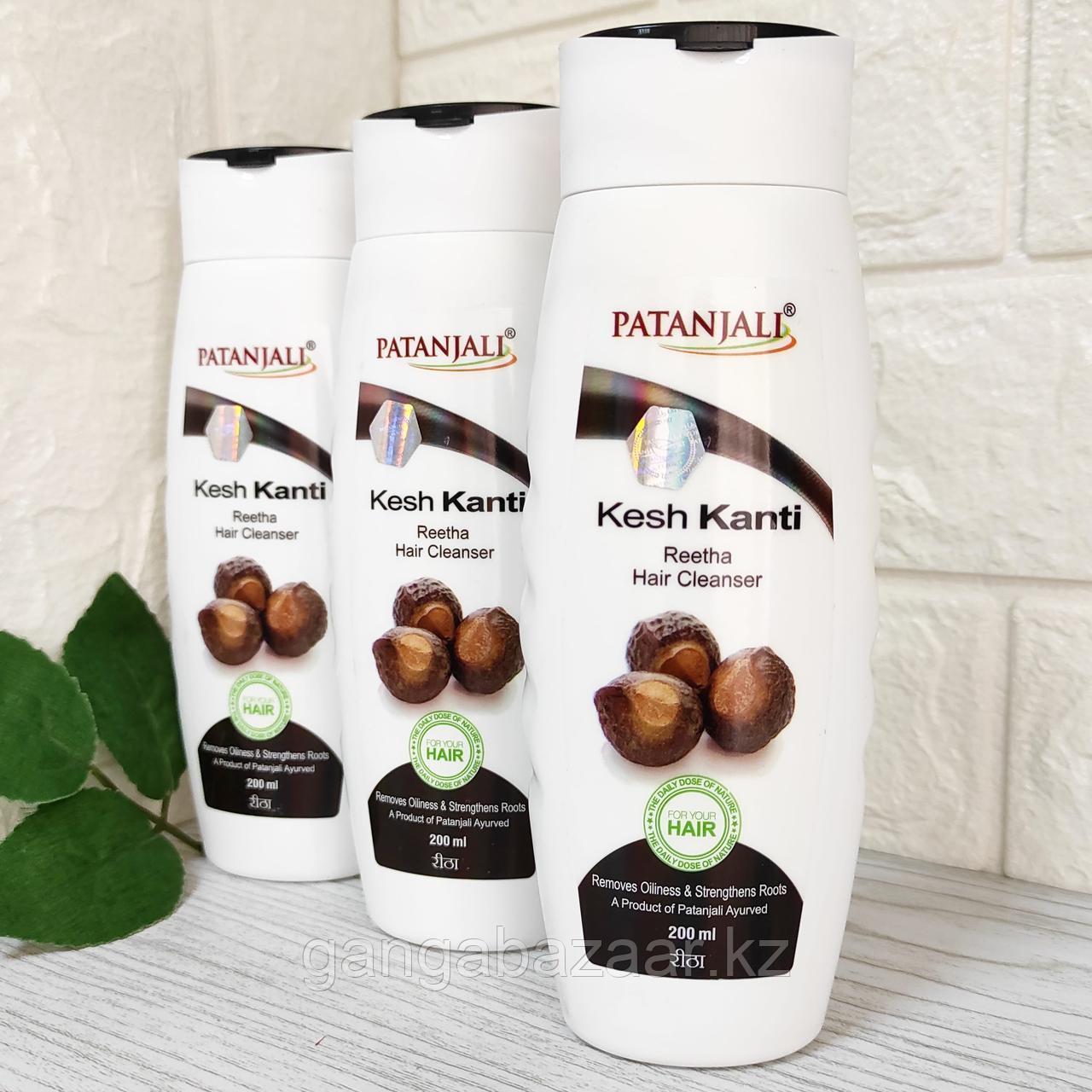 Шампунь Патанжали Кеш Канти с мыльным орехом Ритха (Patanjali Kesh Kanti hair cleanser), 200 мл
