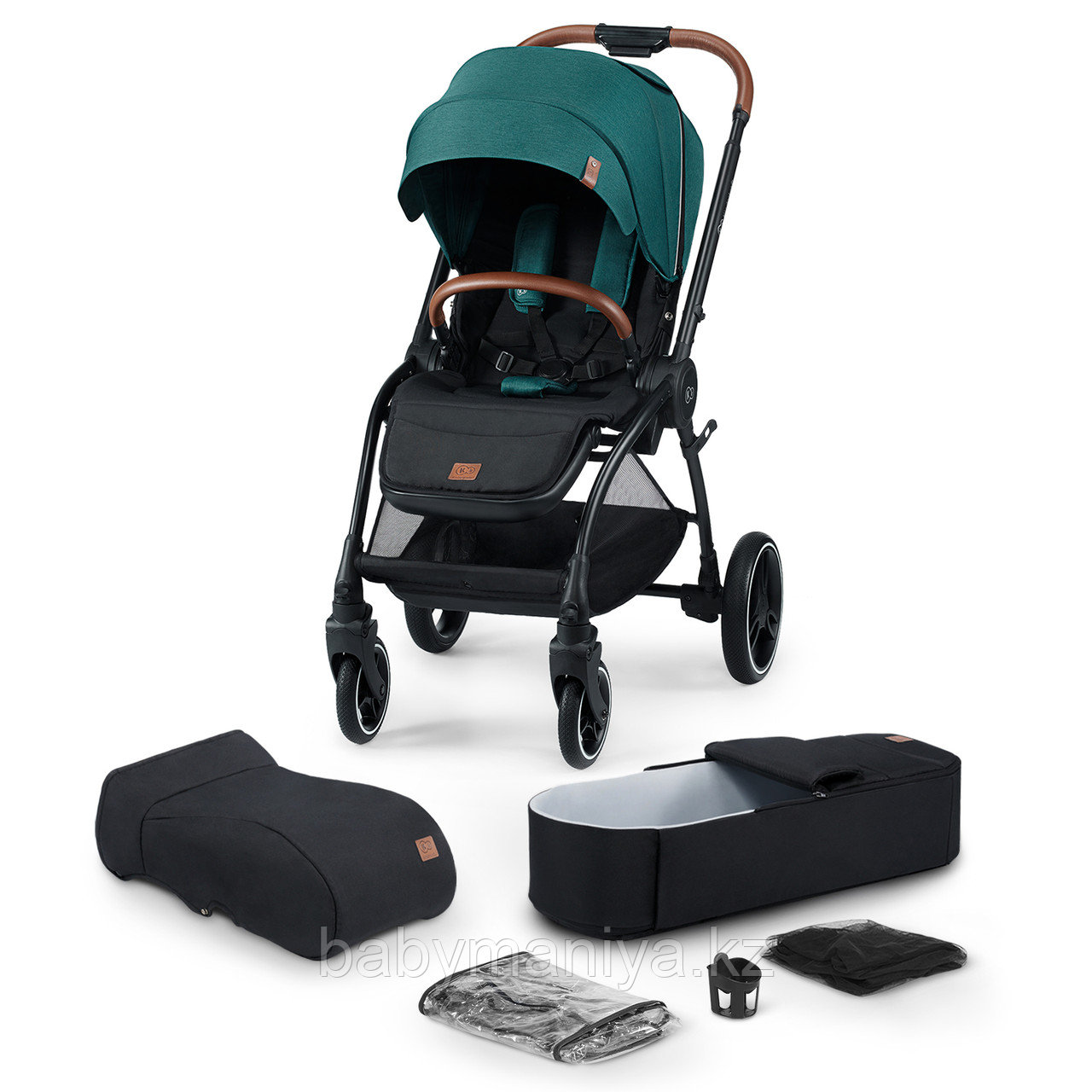 Коляска 2 в 1 Kinderkraft 🇪🇺 EVOLUTION COCOON Midnight Green