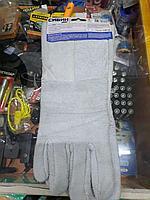 Краги спилковые пятипалые, перчатки