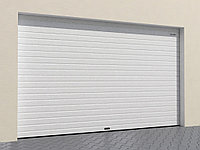 Гаражные секционные ворота из алюминиевых сендвич-панелей, фото 1