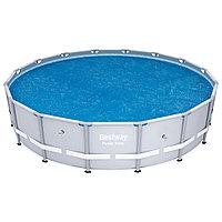 Тент солнечный для бассейнов диаметром 457-488 см, BESTWAY, 58253, PE, Синий, Сумка
