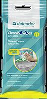 Универсальные чистящие салфетки для экранов Defender CLN 30202 Optima, пакет с подвесом 20 шт 30202
