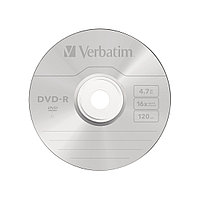 Диск DVD-R, Verbatim, (43547) 4.7GB, 16х, 1шт в упаковке,