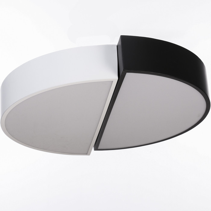 "Люстра ""Модерни"" LED 3 режима 72Вт белый-черный 50х50х8 см"