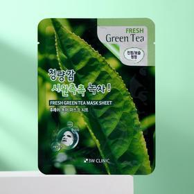 Тканевая маска для лица 3W CLINIC с зелёным чаем, 23 мл - фото 1