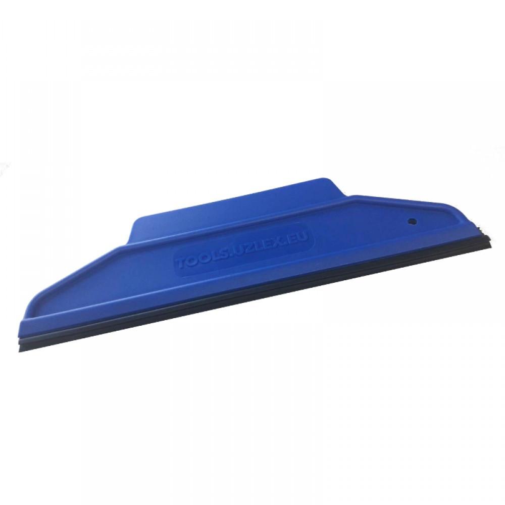 Шпатели с резиновой вставкой 2 в 1, 195*65 мм, синий, средней жесткости