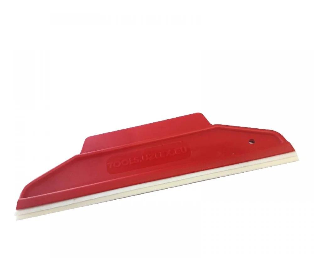 Шпатели с резиновой вставкой 2 в 1, 195*65 мм, красный жесткий