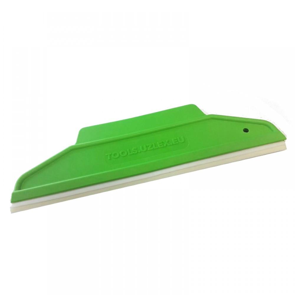 Шпатели с резиновой вставкой 2 в 1, 195*65 мм, зеленый мягкий
