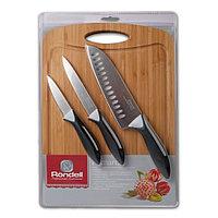 Набор из 3 ножей с разделочной доской Primarch Rondell RD-462, черный