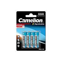 Батарейка, CAMELION, LR03-BP4DG, Digi Alkaline, AAA, 1.5V, 1250mAh, 4 шт. в блистере/12 блис. в упаковке