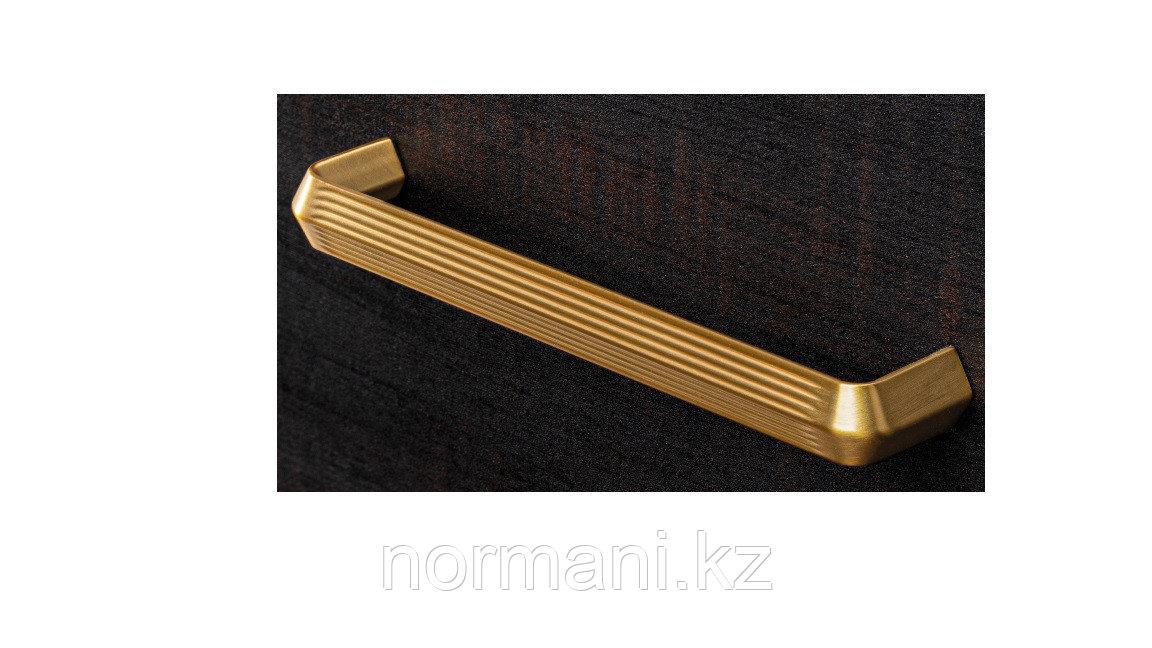 Мебельная ручка скоба, замак, размер посадки 160мм, отделка под золото шлифованное