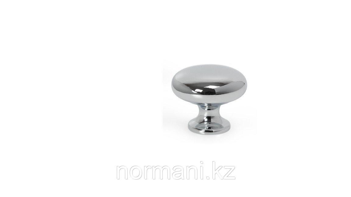 Ручка кнопка, отделка под хром глянец