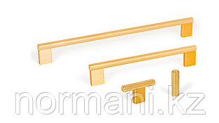 Мебельная ручка скоба, замак, размер посадки 256мм, отделка под золото шлифованное