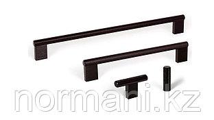 Мебельная ручка скоба, замак, размер посадки 160мм, отделка под черный шлифованный