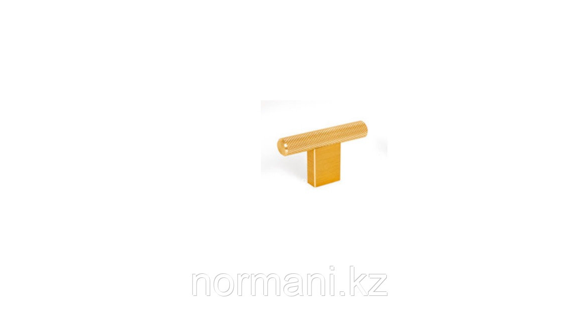 Ручка кнопка, отделка под золото шлифованное