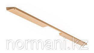 Мебельная ручка скоба, замак, размер посадки 192-576мм, отделка под золото шлифованное