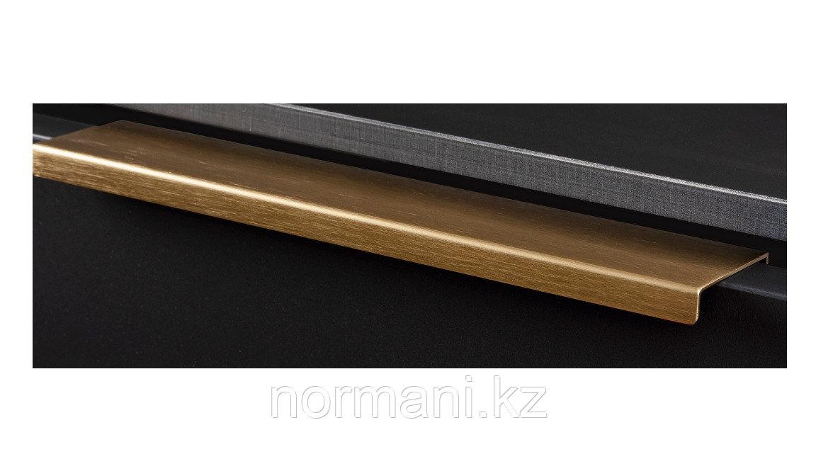 Ручка профиль L.200мм, отделка под золото шлифованное