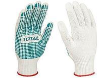 Перчатки трикотажные с ПВХ-точками TOTAL арт.TSP11102