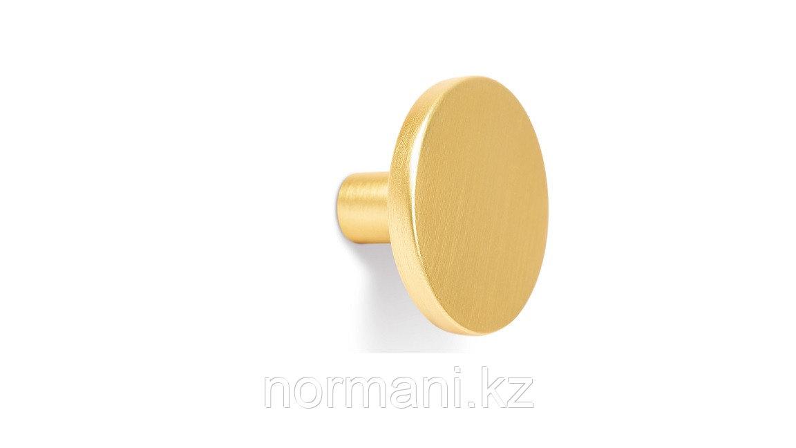 Ручка кнопка d26, отделка под золото шлифованное