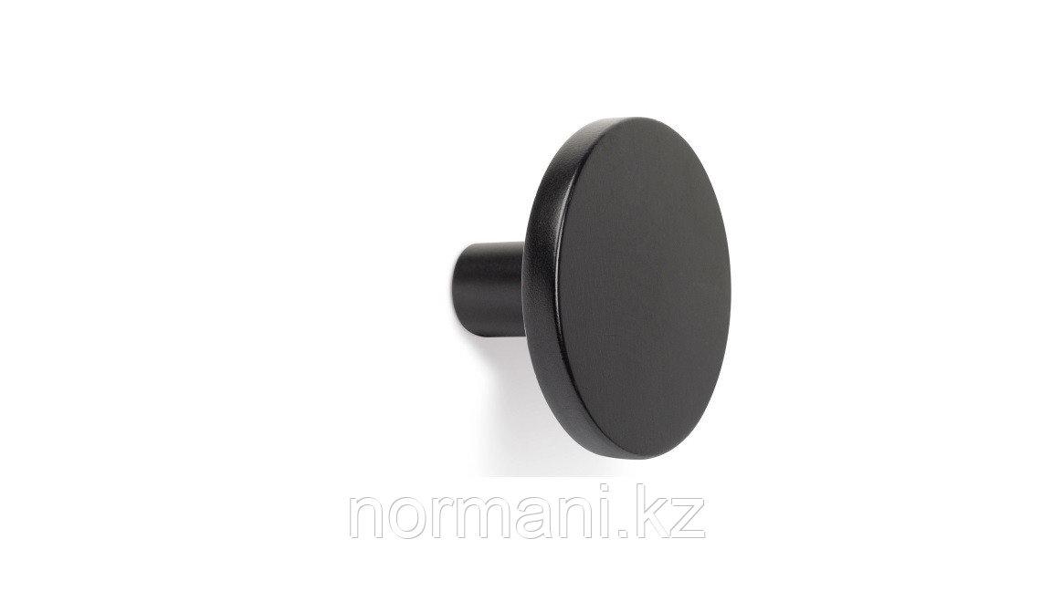 Ручка кнопка d26, отделка под черный матовый