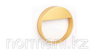 Мебельная ручка скоба, замак, размер посадки 64мм, отделка под золото шлифованное