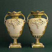 Парные вазы Royal Dux. Фарфоровая мануфактура Royal Dux Bohemia