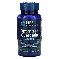 Life Extension, оптимизированный кверцитин, 250 мг, 60 вегетарианских капсул