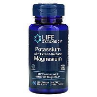 Life Extension, калий с магнием пролонгированного действия, 60 вегетарианских капсул
