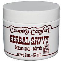 Country Comfort, Herbal Savvy, гидрастис и мирра, 57 г