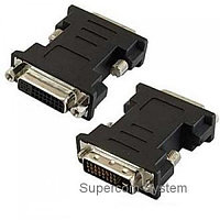 DVI (f) (24+5)/DVD-I - DVI (m) (24+1)/DVI-D Convertor Gold-Plated