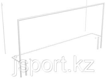 Ворота футбольные со стойками натяжения сетки, разборные (7,32х2,44 м)