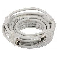 VGA Cable 15m/15m (папа-папа) экранированный 15m High Quality 8mm серый (2 фер. кольца)